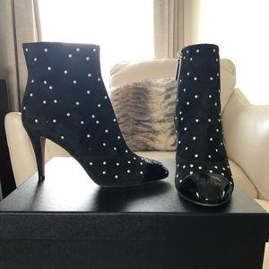 NIB Chanel Suede Short Boots